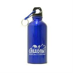 Бутылка для Питья Следопыт Алюминиевая с Карабином 400мл - фото 23163