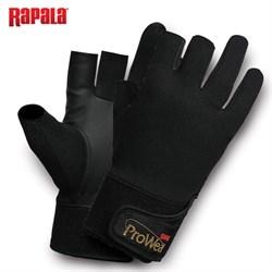 Перчатки рыболовные без трех пальцев Rapala ProWear Titanium HT размер M - фото 24722