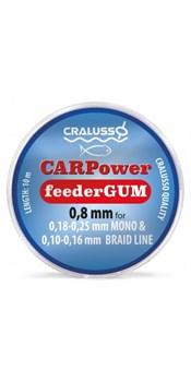 Фидергам Cralusso Feeder Gum CARPower 10м 0.65мм прозрачный - фото 30084