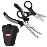 Набор Rapala: крепление для подножки, профессиональные проскогубцы, ножницы RTC-C6PHLS