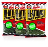 Dynamite Baits пелетс 900гр. Hi-Attract Pellets 8мм Shellfish Betaine Green