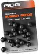ACE Rubber Beads 6mm бусинка черная