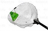 Подсачек Tsuribito Net Trap Fold Складной 200см d=46см с Прозрачной Силиконовой Сетко