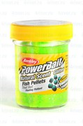 Форелевая Паста Berkley PowerBait Dough Natural Scent Fish Pellet Fluo Green Yellow 50гр