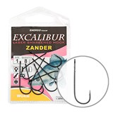 Крючки Excalibur Zander Worm Black 2/0 6шт/уп