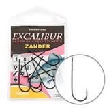 Крючки Excalibur Zander Worm Black 4/0 5шт/уп