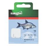Готовый Поводок Kamasaki Snelled Hook Sode №12, 0.14мм, 70см 10шт/уп
