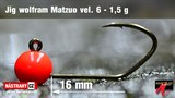 Джиг-головка Вольфрамовая Matzuo №6 Red/Black 1,5гр 5шт/уп