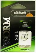 Готовый Поводок Asari Worm Pro №1, 0,35мм, 120см 10шт/уп