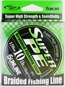 Плетёный Шнур Sunline Super Pe Light Green 150м #0.8 8Lb 4кг