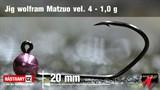 Джиг-головка Вольфрамовая Matzuo №4 Pink/Black 1,0гр 5шт/уп