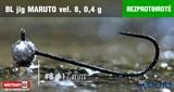 Джиг-головка Maruto Крючок Безбородый №8 Black 0,4гр 5шт/уп