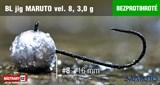 Джиг-головка Maruto Крючок Безбородый №8 Black 3,0гр 5шт/уп