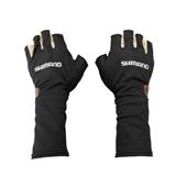 Перчатки Shimano MS Sun Shade Glove5 GL-007N Черный Серебро размер L