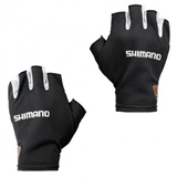 Перчатки Shimano MS Sun Shade Glove5 Short GL-008N Черный Серебро размер XL