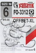 Крючки Офсетные Fanatik FO-3312-XL №06 6шт/уп