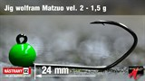 Джиг-головка Вольфрамовая Matzuo №2, Green/Black 1,5гр 5шт/уп