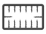 Набор Пластиковых Штырей для Насадки Cralusso Plastic Bait Spike S 5-7мм