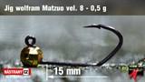 Джиг-головка Вольфрамовая Matzuo №8 Gold/Black 0,5гр 5шт/уп