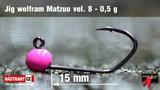 Джиг-головка Вольфрамовая Matzuo №8 Pink/Black 0,5гр 5шт/уп
