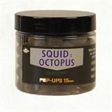 Бойлы плавающие Dynamite Baits Foodbait Pop-Ups Squid & Octopus 15мм