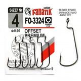 Крючки Офсетные Fanatik Offset Premium FO-3324 №04 5шт/уп