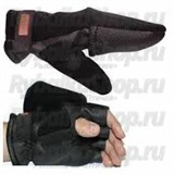 Перчатки-варежки Kosadaka Fire Wind флис/неопрен чёрные, р-р M