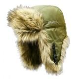 Шапка ушанка Kosadaka Arctic плащевка хаки / мех волк