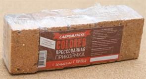 Прикормка прессованная Карпомания с ароматом Сливы оранжевая 0,5кг