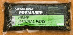 Прикормка Карпомания Premium Конопля Натуральная с Горохом. Пакет 550гр