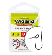 Крючки Wizard Big eye hook Twister #1 5шт/уп