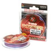 Плетеная леска Gosen 4PE Donpepe Red #0.6 (9Lb/4кг/150м)
