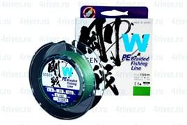Плетеная леска Gosen 4PE W Braid Green #1.5 (17Lb/7,8кг/300м)