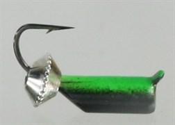 Безнасадка 2,5 Чёрно-зелёная, Серебряная Тарелка 0,6гр 3шт