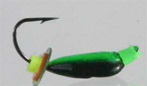 Нимфа 2,5 с петелькой, Черненая+Цвет, Пайетка 0,5гр 3шт