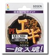 Плетеная леска Gosen 4PE Egi Damashi 4 PE #0.6 (5,5 кг/150м)