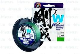 Плетеная леска Gosen 4PE W Braid Green #1.5 (17Lb/7,8кг/150м)