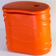 Мотыльница Колесник 0,45л Оранжевая с крышкой ЭВА