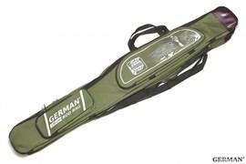 Чехол German Rod Bag для Удочки с Катушкой 130см 3 Отделения, темно-зелёный