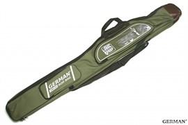 Чехол German Rod Bag для Удочки с Катушкой 150см 3 Отделения, темно-зелёный