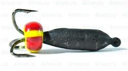 Мормышка Чёрт 2,5 Чёрный с Бисером 0,55гр