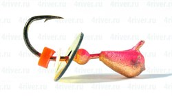 Мормышка Мураши 2,5 Медь+Цвет, Пайетка 0,3гр