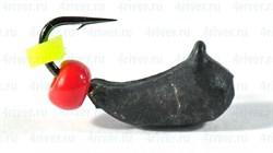 Мормышка Банан 3 Укороченный, Чёрный, Бисер 0,3гр