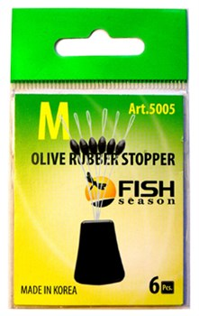 Стопор Fish Season Olive Rubber Stopper 5005 S 6шт/уп - фото 22263