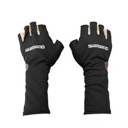 Перчатки Shimano MS Sun Shade Glove5 GL-007N Черный Серебро размер L - фото 25300