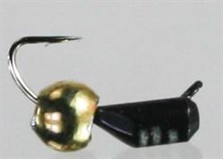 Безнасадка 2,5 Чёрная с Латунным Шариком 0,6гр 3шт - фото 36967