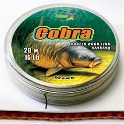 Повод. Матер. в Оболочке Cobra 15 Lb 20м.Коричневый - фото 3879