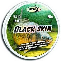 Повод. Матер. Blak Skin 15Lb 20м. Черный - фото 4286