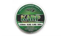 Леска Karp 0,30мм 500м Зелёный - фото 4370