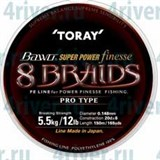 Toray Bawo Super Power Finesse 8 Braids 150м. 0,128мм. 10lb